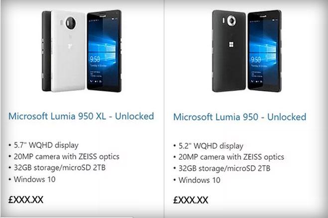 Lumia 950 y Lumia 950 XL