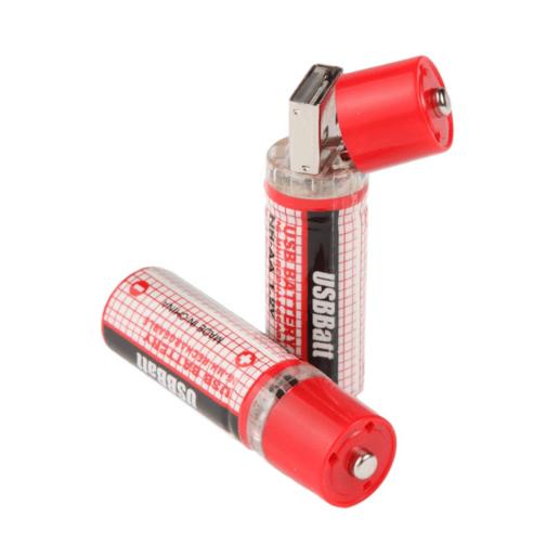 Pilas AA recargables USB 1450mAh