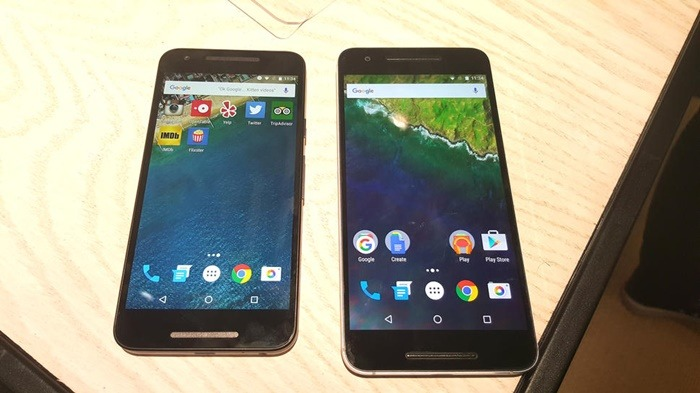 Nexus 5X y su hermano mayor, el Nexus 6P. Fuente: Google