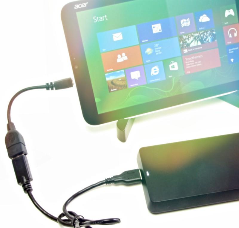 como conectar un disco duro a una tablet