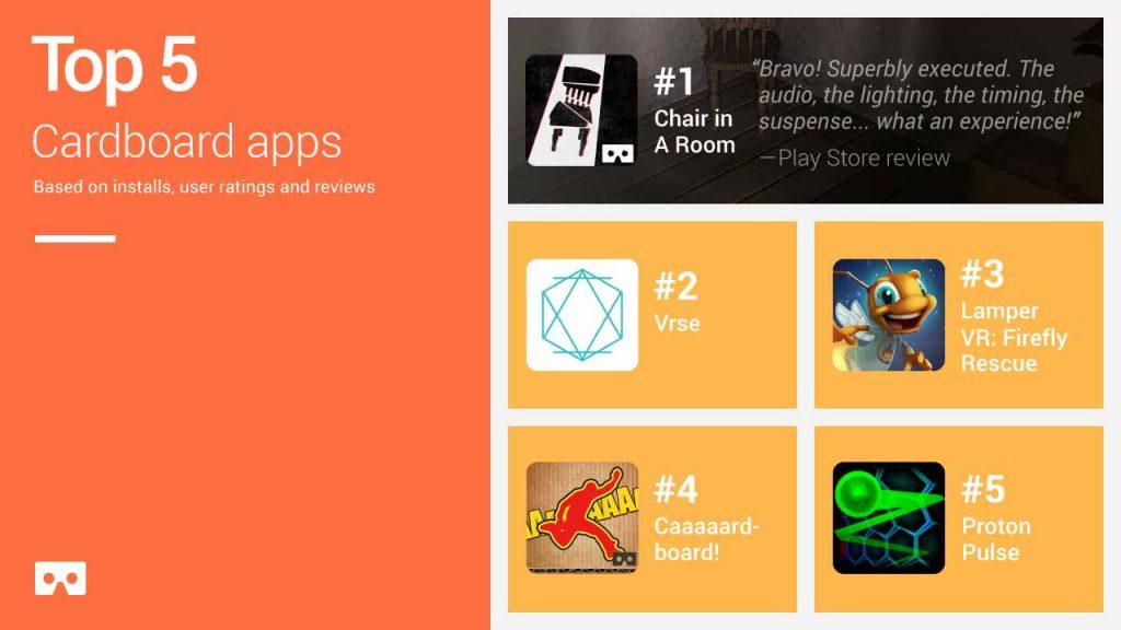 Apps de Google Cardboard