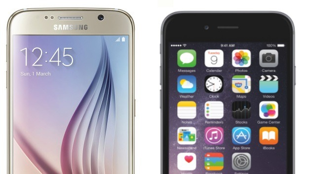 Galaxy S6 y iPhone 6