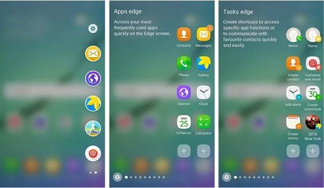Más espacio en el borde del Samsung Galaxy S6 Edge