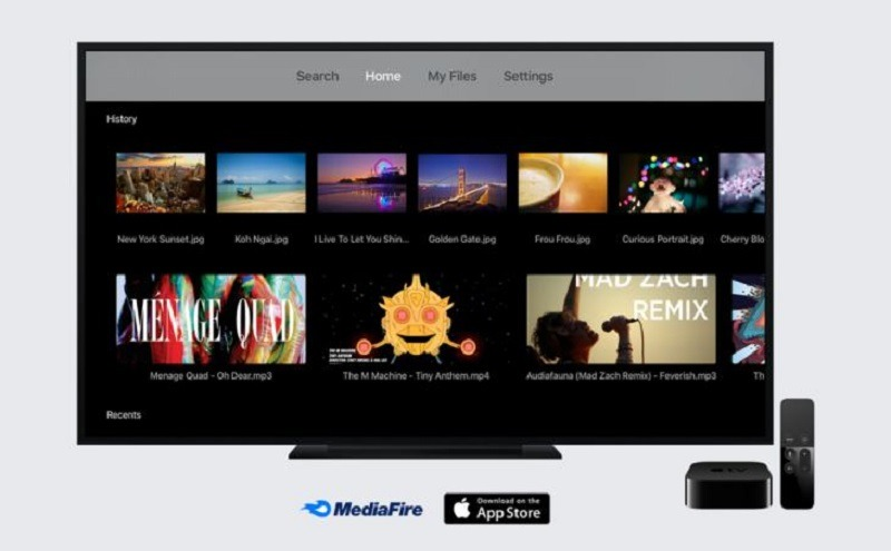 MediaFire Apple TV