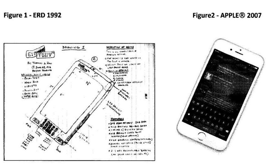 Patente del iPhone en 1992