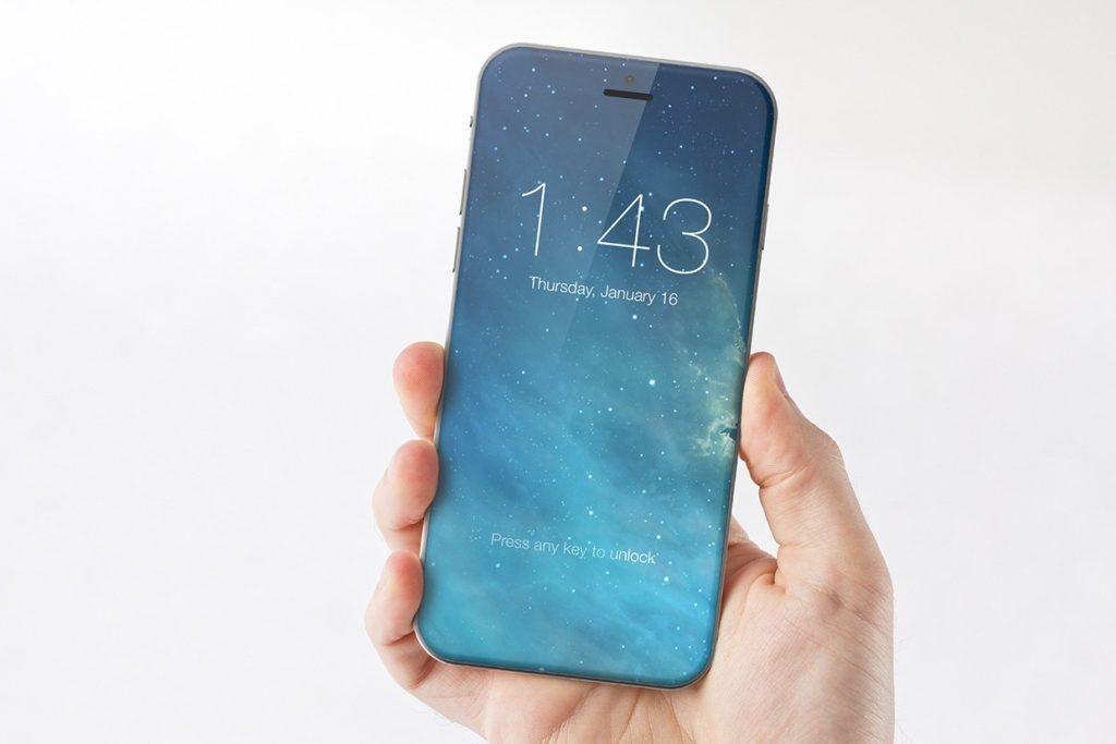 Concepto del nuevo iPhone de 2017
