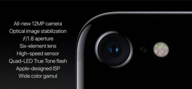 Especificaciones del iPhone 7. Fuente: Apple