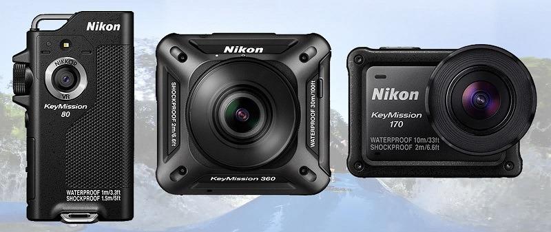 Nikon Keymission 360, Keymission 170 y Keymission 80