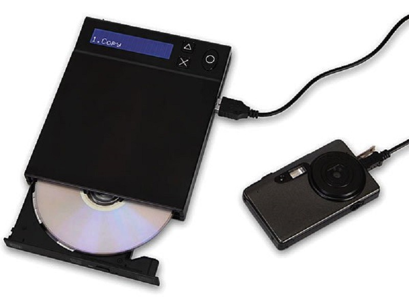 Memory card to dvd photo converter