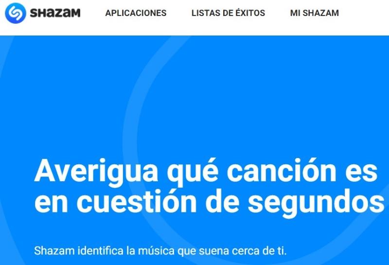 Reconocer canciones online - Shazam