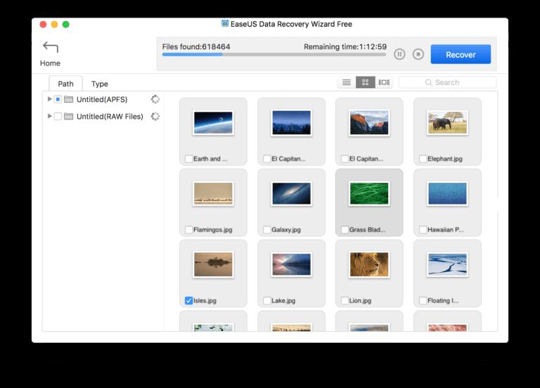 Recuperar archivos borrados en Mac