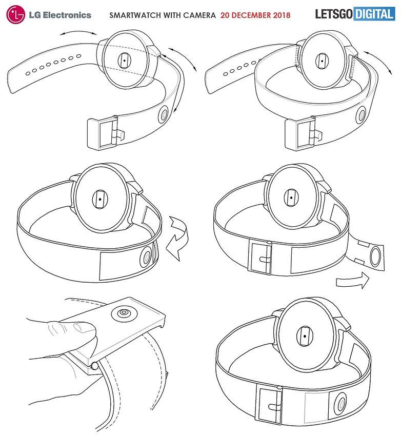 LG smartwatch con cámara